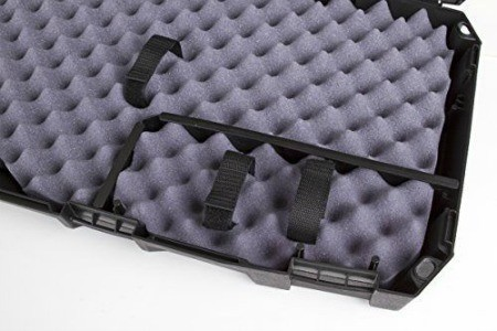 Rifle case feature foam padding.