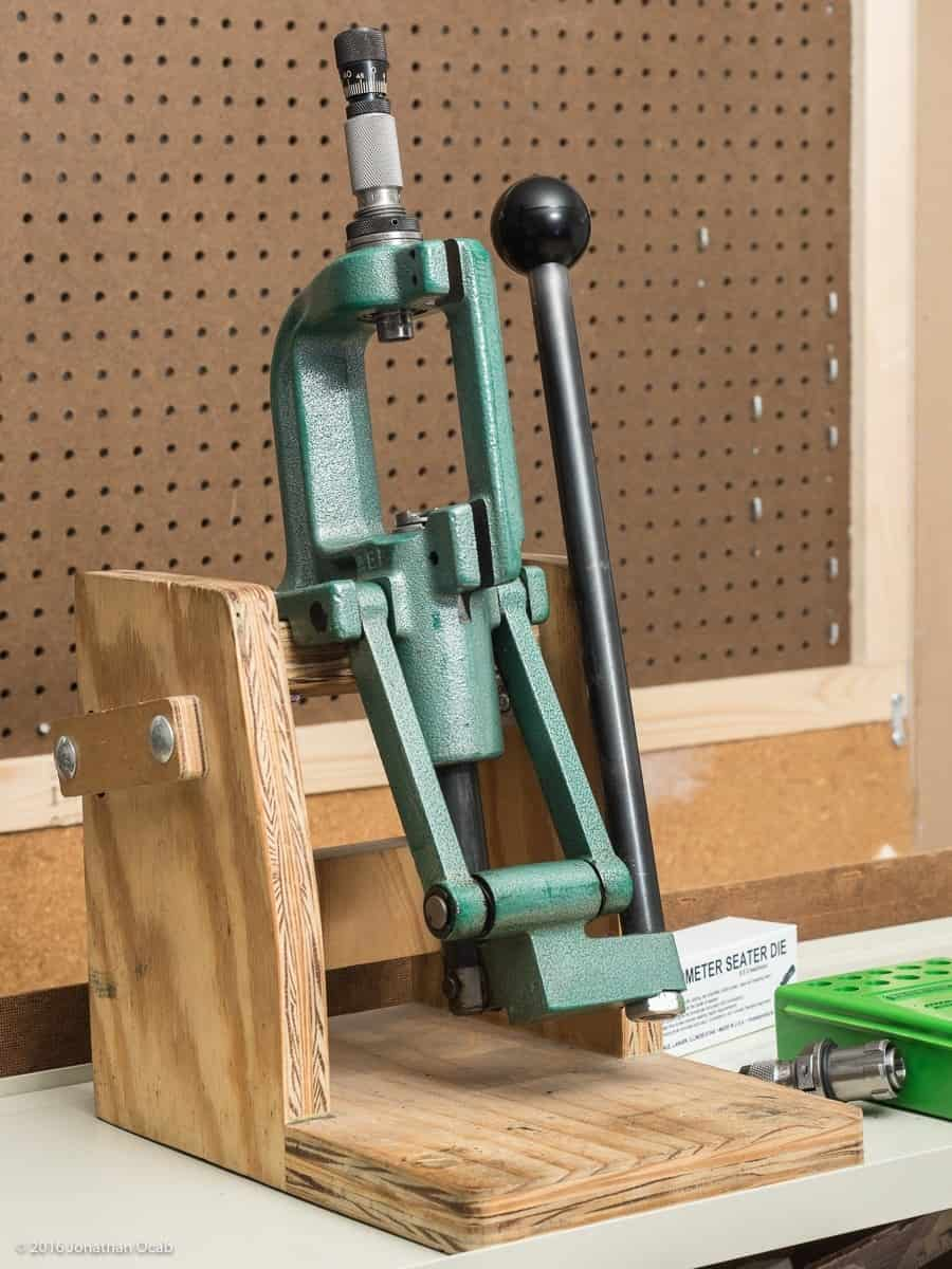 Photo of a green reloading press