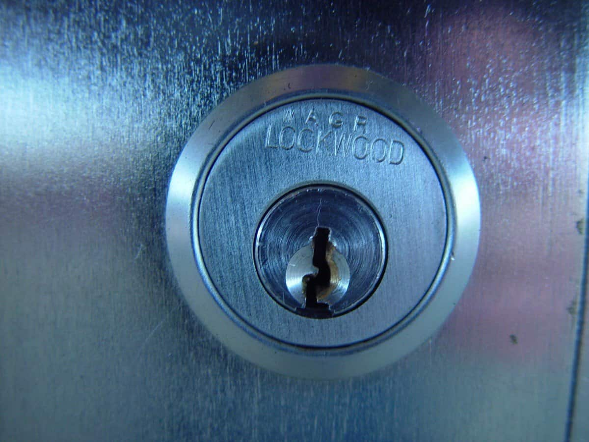 A gun safe key lock