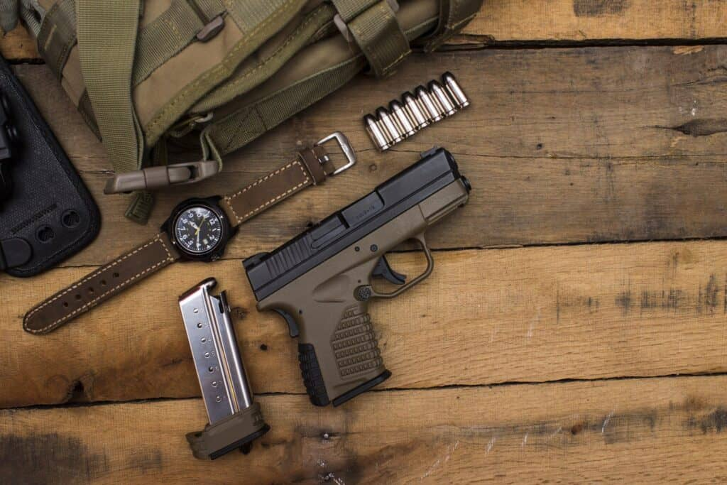Items found in a rifle range backpack