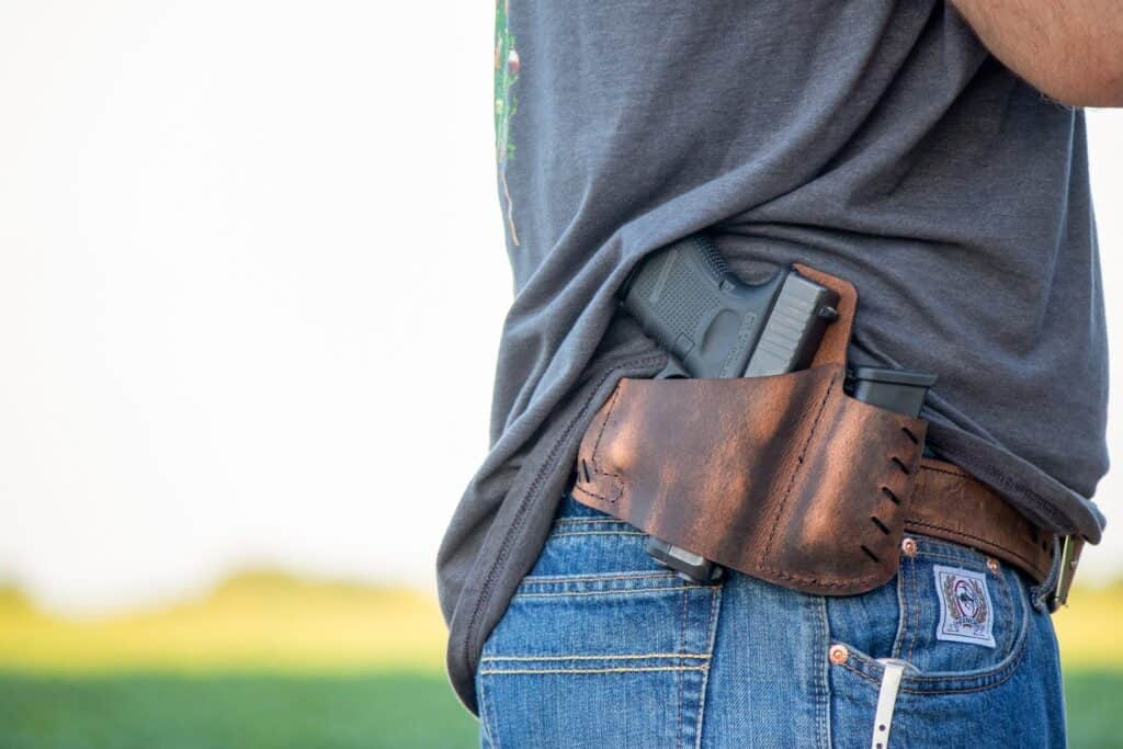 Man carrying a concealed weapon