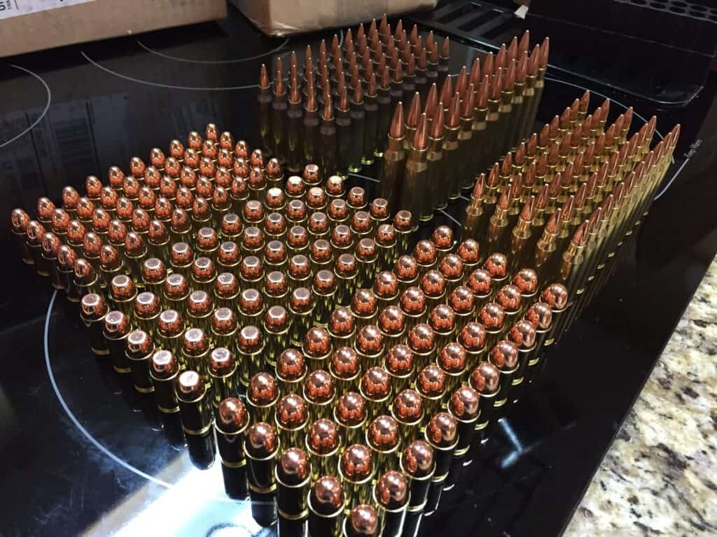 Boxes of bullets