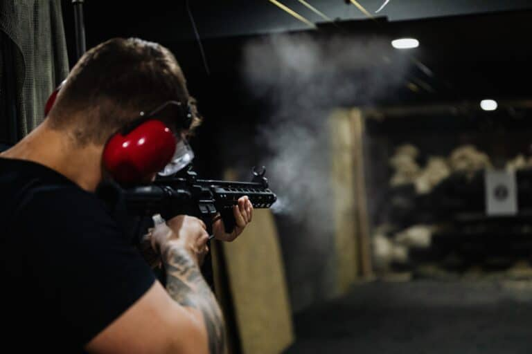 Man in a shooting range in Montana