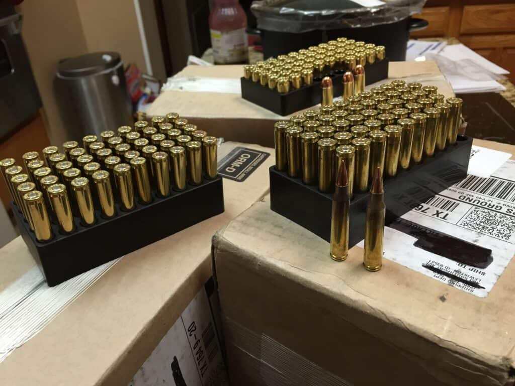 Boxes full of bullets