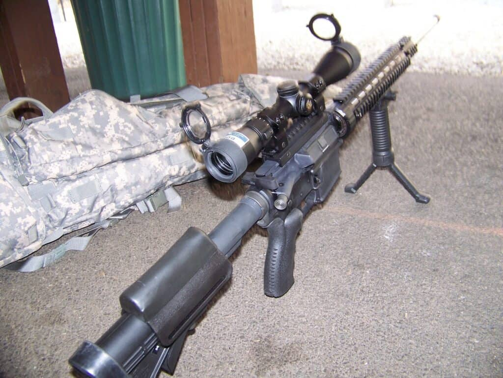 Rifle on the ground
