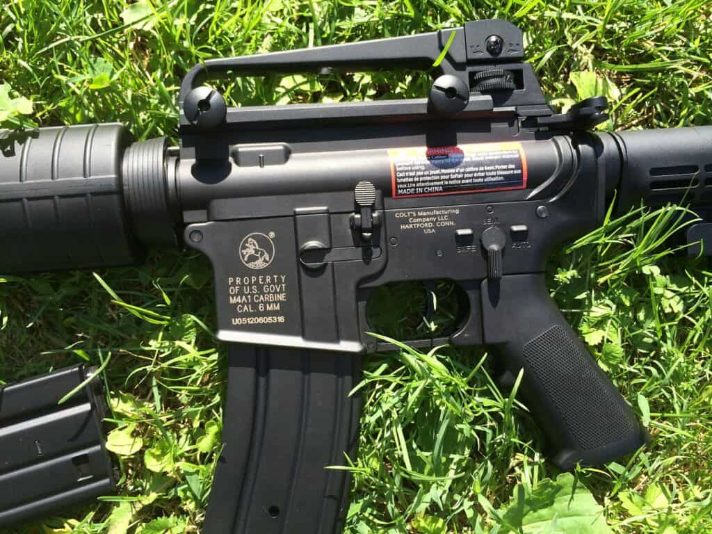 Rifle on the grass