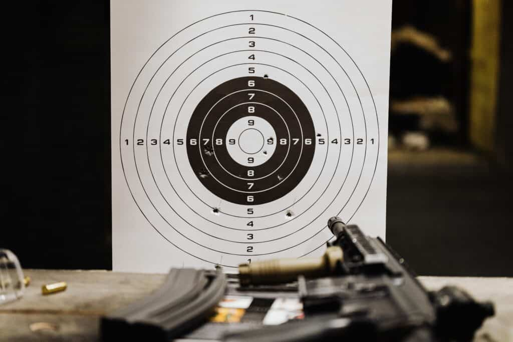 Paper target for shooting