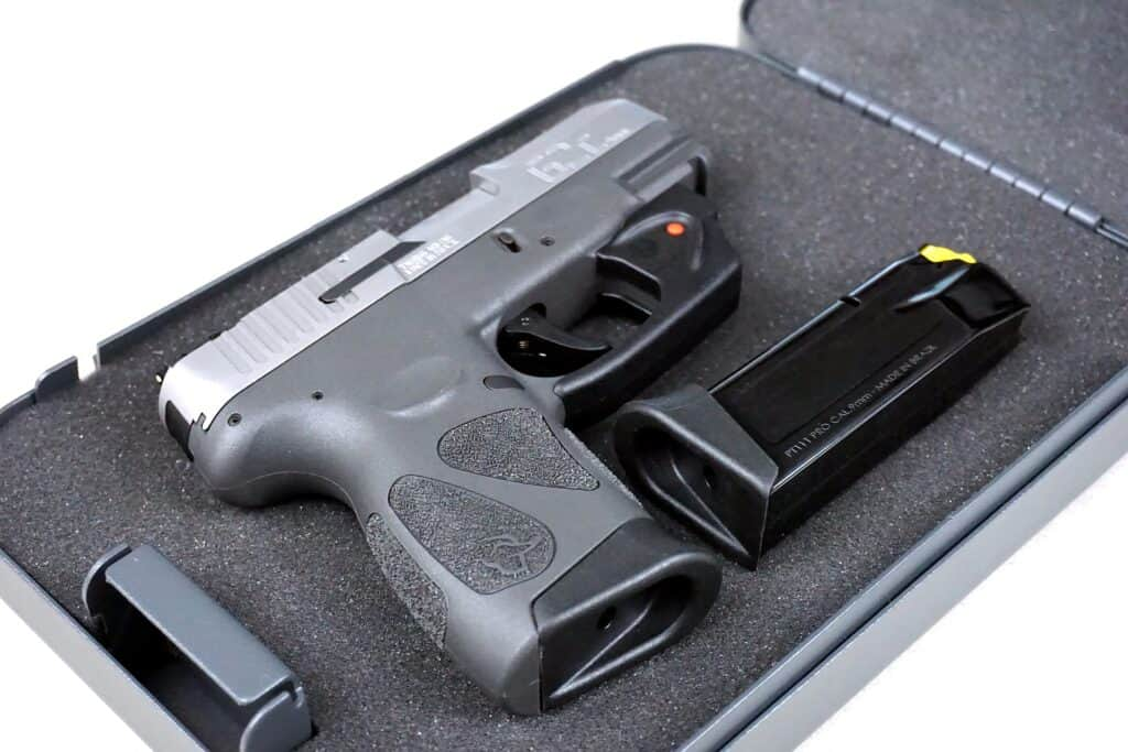Handgun in a gun case