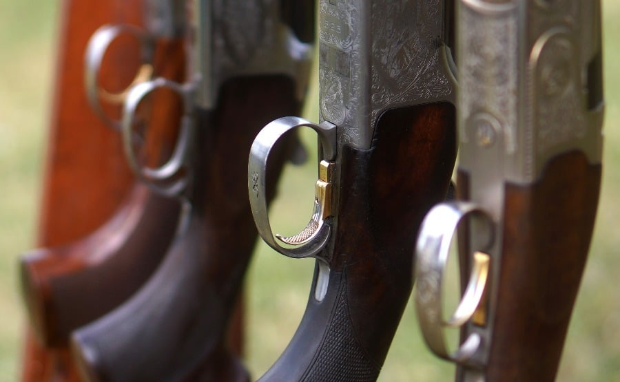 Rifles lined up together