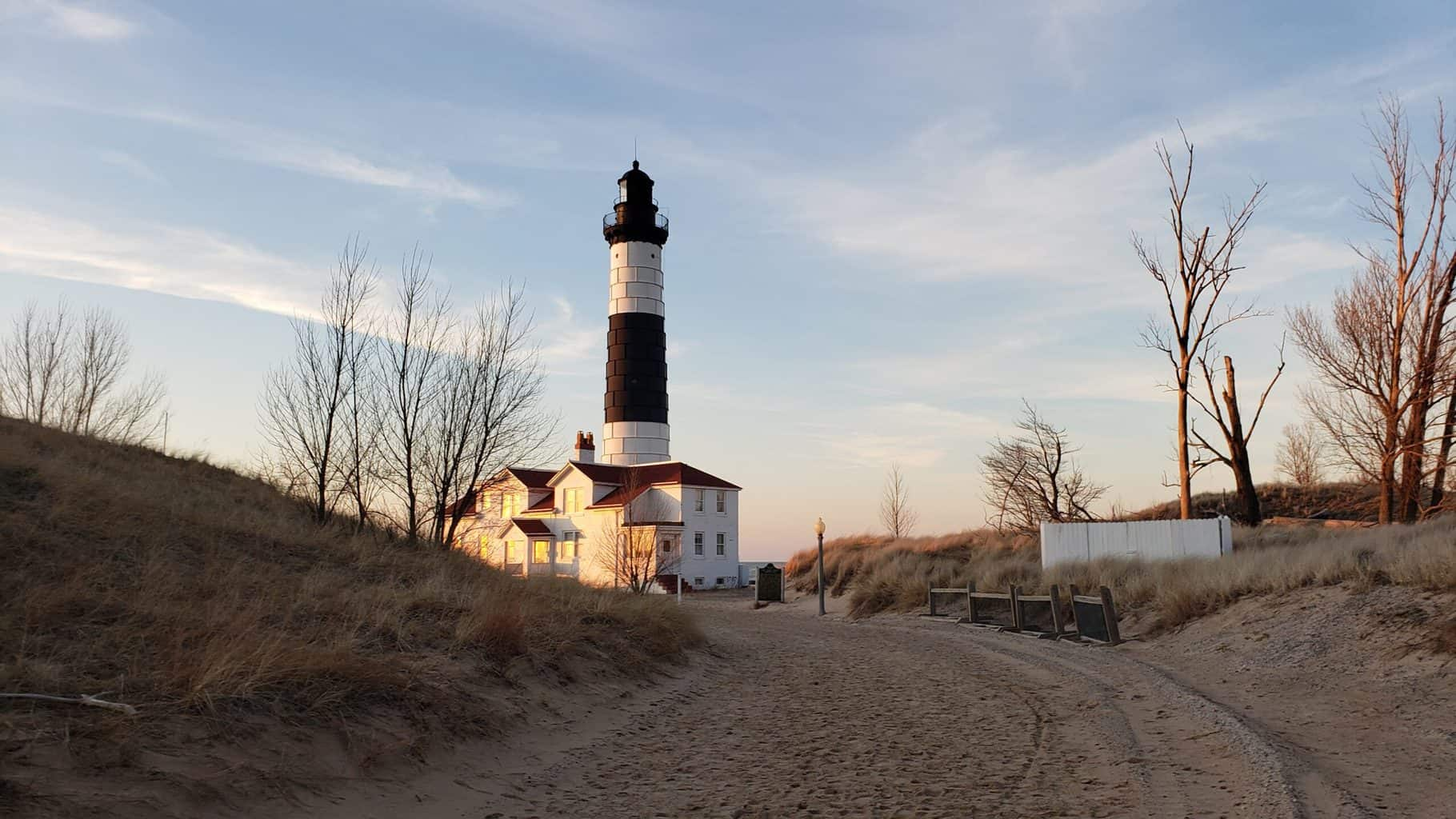 a lighthouse in ludington michigan