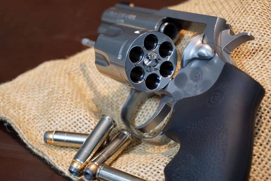 Pistol with an empty cylinder